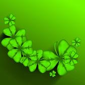 Shamrock leaves background for Happy St. Patrick's Day. EPS 10. — Vector de stock