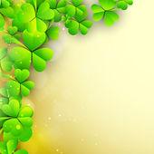 Irish shamrock leaves background for Happy St. Patrick's Day. EP — Vector de stock