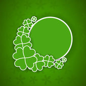 Shamrock leaves background for Happy St. Patrick's Day. EPS 10. — 图库矢量图片