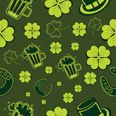 Seamless background for Happy St. Patrick's Day. — Stok Vektör