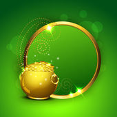 Happy St. Patrick's Day greeting card or background with golden — ストックベクタ
