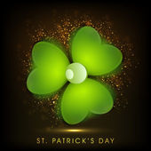 Irish shamrock leaves background for Happy St. Patrick's Day. EP — Stok Vektör