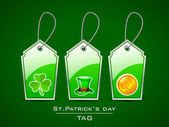 Sticker or tag for Happy St. Patrick's Day. — Stock Vector