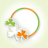 Irish shamrock leaves background for Happy St. Patrick's Day. EP — Stock Vector
