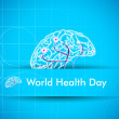 World health day background. — Vektorgrafik