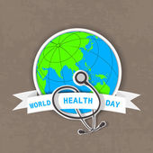 World health day background. — Stock Vector