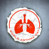 World Asthma Day background. — Stock Vector