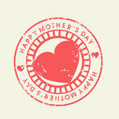 Grungy rubber stamp for Happy Mothers Day celebration. — Stock Vector