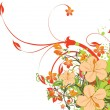 Grunge background with floral — Stock Vector #2295812