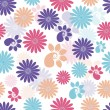 Stock Vector: Abstract seamless floral pattern.