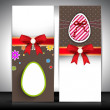 Easter banner set with ribbon. — Vector de stock