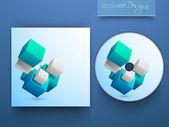 Cd cover ontwerp voor uw bedrijf. eps 10. — Stockvector