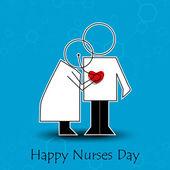International nurse day concept with illustration of a nurse — Stock Vector