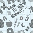 Back to school seamless patterns. — Stockvektor