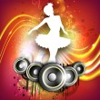 Stock Vector: Musical dance party background. flyer or banner.