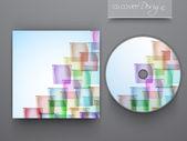 Cd 封面设计为您的业务的。10 eps. — 图库矢量图片