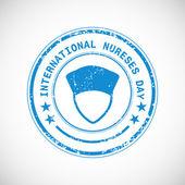 International nurse day concept with stamp. — Stockvector