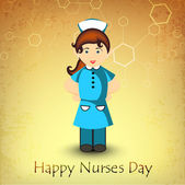 International nurse day concept with illustration of a nurse — Stock Vector