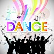 Musical dance party background. flyer or banner. — Stock Vector #22921958