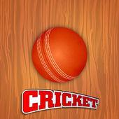 波れたら上に光沢のあるクリケット ボールの抽象的なスポーツ コンセプト — ストックベクタ
