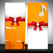 Musical banner set. EPS 10. — Stock Vector
