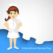 Internationale verpleegster dag concept met illustratie van een verpleegster — Stockvector