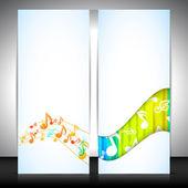 Musical banner set. EPS 10. — Stock Vector