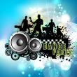 Musical dance party background. flyer or banner. — Stock Vector