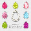 Happy Easter background with eggs. — Stock Vector #22939618