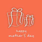 Happy Mothers Day background with gift boxes. — Stock Vector