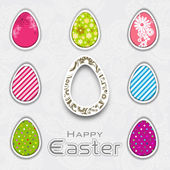 Happy Easter background with eggs. — Stock Vector