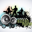 Musical dance party background. flyer or banner. — Stock Vector #22944616