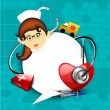 International nurse day concept with illustration of a nurse - Imagen vectorial
