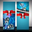 Musical banner set. EPS 10. - Stock Vector