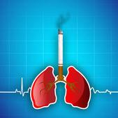 Fond de journée mondiale asthme. — Vecteur