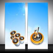 Muzikale banner set. eps 10. — Stockvector