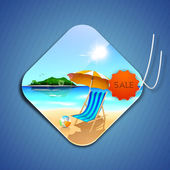 Tag, sticker or label for summer holidays. — Stock Vector