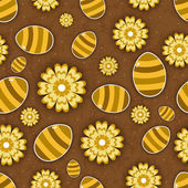 Vintage Easter seamless pattern with decorated eggs. — Stock Vector