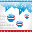 Hanging balls with us background — Stock Vector #2300845