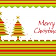 Merry christmas background with tree — Stock Vector #2455179