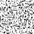 Abstract seamless pattern with music notes. — Stock Vector #24521451