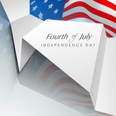 Fjärde juli amerikanska självständighetsdagen bakgrund med flagga en — Stockvektor
