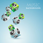 Abstract music background with loudspeakers. — Stock Vector