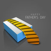 Happy Fathers Day background with necktie. — Stock Vector