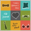 Vintage background for Happy Fathers Day. — Imagen vectorial