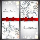 Beautiful floral invitations card. — Stock Vector