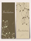 Beautiful floral invitation card. — Stock Vector