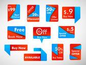 Negocio promocional insignias, pegatinas, etiquetas o etiquetas con discoteca — Vector de stock