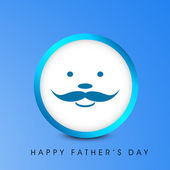 Happy Fathers Day concept with a smiling face of a father on bl — Stock Vector