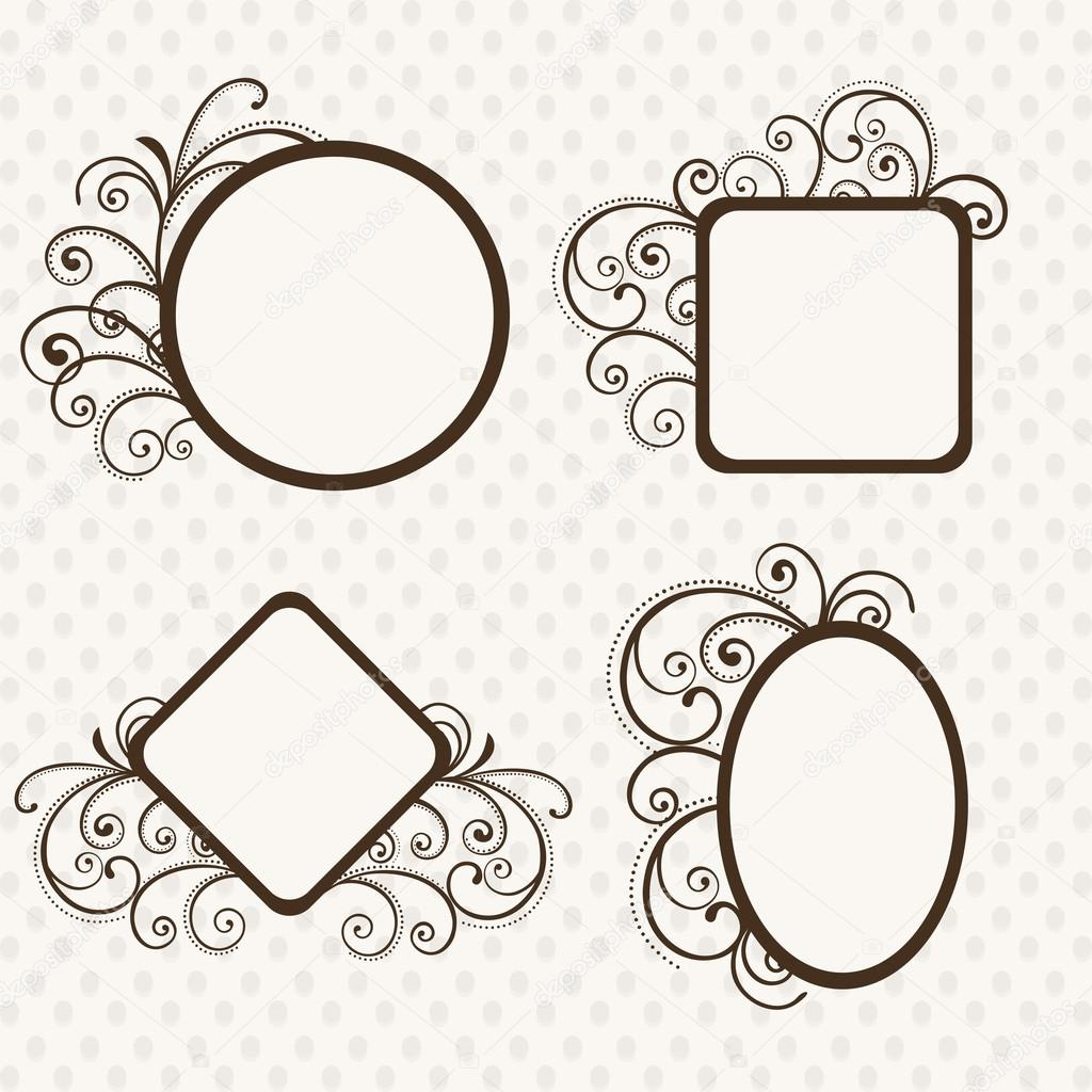 Different Glasses Frame Shapes : Beautiful floral decorated photo frames in different ...